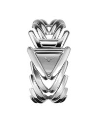 Roberto Cavalli - Metallic Spike - Stainless Steel Dress Bracelet Watch - Lyst