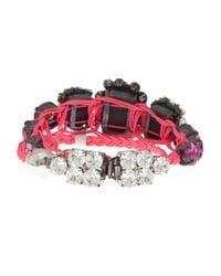 Shourouk - Purple Baraka Rococco Bracelet - Lyst