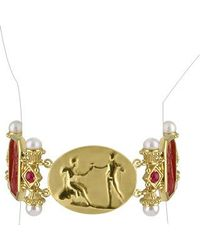 Tagliamonte | Red Classics Collection - 18k Gold And Ruby Link Bracelet | Lyst