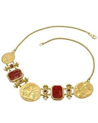 Tagliamonte - Metallic Classics Collection - 18k Gold And Ruby Necklace - Lyst