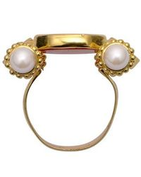 Tagliamonte | Metallic Classics Collection - Pearls & Rubies 18k Gold Ring | Lyst