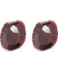 Tatty Devine - Multicolor Tortoise Shell Earrings - Lyst