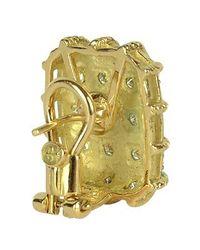 Torrini - Wallstreet - 18k Yellow Gold Diamond Earrings - Lyst
