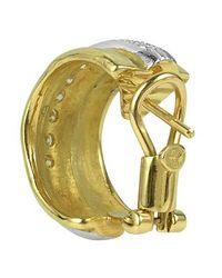 Torrini | Nancy - 18k Yellow Gold And Diamond Earrings | Lyst