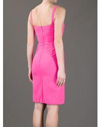 Versace   Pink Lady Di Dress   Lyst