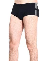 Emporio Armani | Black Giorgio Armani Men's Swimwear for Men | Lyst