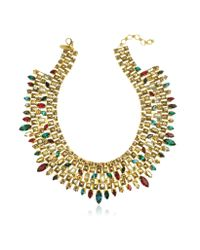 Erickson Beamon | Metallic Matador Goldplated Crystal Necklace | Lyst