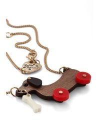 Tatty Devine - Brown Dog On Wheels Necklace - For Women - Lyst