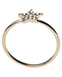 Orelia | Metallic Diamante Star Ring | Lyst