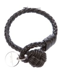 Bottega Veneta | Black Woven Leather Bracelet for Men | Lyst