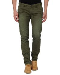 Cellar Door Green Casual Pants for men