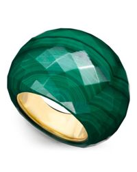 COACH | Green Faceted Bubble Ring | Lyst