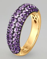 John Hardy | Purple 18k Gold Classic Chain Violet Sapphire Slim Dome Ring | Lyst