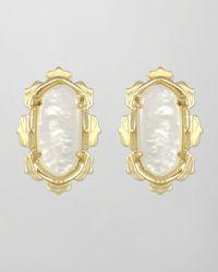 Kendra Scott | White Shina Stud Earrings | Lyst