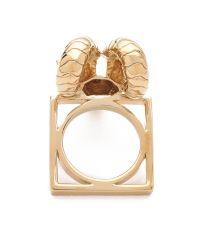 Tory Burch Metallic Ram Head Ring