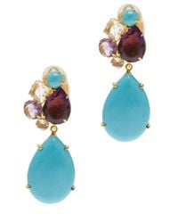 Bounkit | Blue Cluster with Removable Drop Earrings | Lyst