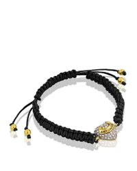 Juicy Couture - Black Pavã Heart Friendship Bracelet - Lyst