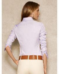 Ralph Lauren Blue Label Blue Super slim fit Cotton Shirt