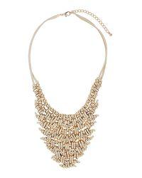TOPSHOP - Metallic Metal V Collar Necklace - Lyst