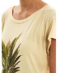Wildfox Yellow Pineapple print T-shirt