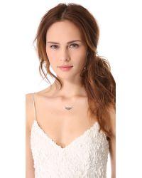 Blanca Monros Gomez - Metallic White Diamond Filigree Necklace - Lyst