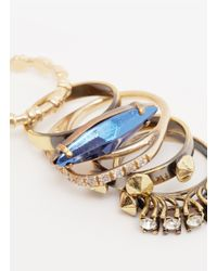 Iosselliani - Metallic Five Ring Set - Lyst