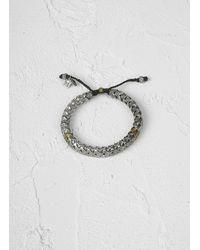 John Varvatos - Gray Silver Snake Vertebrae Detailed Bracelet for Men - Lyst