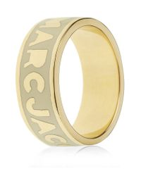Marc By Marc Jacobs | White Classic Logo Ring | Lyst