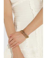 Oscar de la Renta - Metallic Set Of Three Goldplated Bracelets - Lyst
