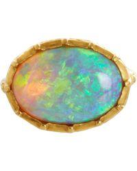 Anaconda - Metallic Australian Opal Ring - Lyst