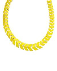 ASOS - Yellow Scale Collar Necklace - Lyst