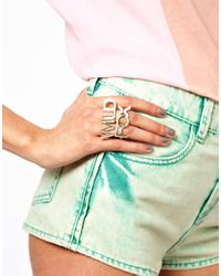 Wildfox Metallic Wildfox Double Finger Ring
