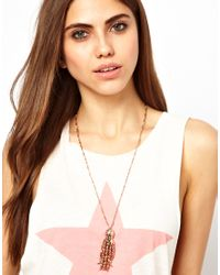 Wildfox Metallic Octopus Necklace