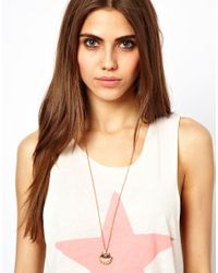 Wildfox Metallic Shell Pearl Necklace