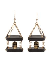 Clemmie Watson | Black Skull Drop Earrings | Lyst