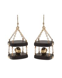 Clemmie Watson - Black Skull Drop Earrings - Lyst