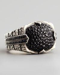Stephen Webster - Metallic Pave Black Sapphire Ring for Men - Lyst