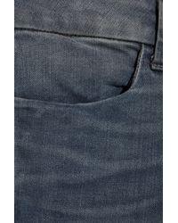 J Brand Blue Anja Photo Ready Cropped Midrise Jeans