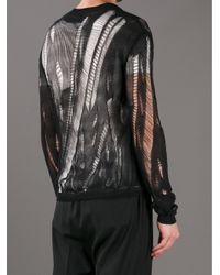 Paul Smith Black Distressed Crochet Knit Sweater for men