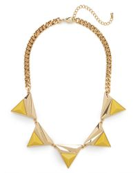 BaubleBar | Yellow Sun Collar | Lyst