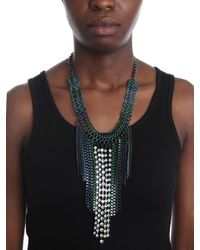 BaubleBar | Blue Oceania Link Fringe Necklace | Lyst