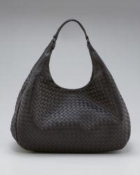 Bottega Veneta - Black Hobo Shoulder Bag - Lyst