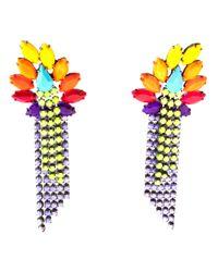 Tom Binns | Multicolor Riri Fringed Earrings | Lyst