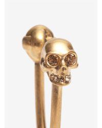Alexander McQueen - Metallic Skull 'u' Key Ring for Men - Lyst