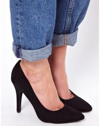 ASOS Metallic Love Anklet