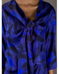 Dries Van Noten Blue Huno Dress