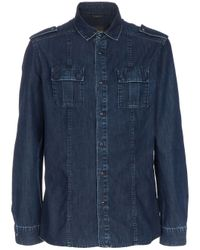 Fendi Blue Denim Shirt for men