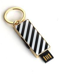 kate spade new york | Metallic Usb Drive Keychain | Lyst