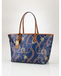 7ae97385e6 Lauren by Ralph Lauren Equestrianprint Classic Tote in Blue - Lyst