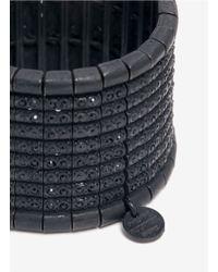 Philippe Audibert - Black Rhinestone Elasticated Cuff Bracelet - Lyst